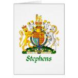 Escudo de Stephens de Gran Bretaña Felicitacion