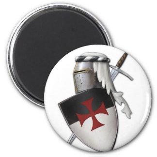 Escudo de Templar de los caballeros Imán Redondo 5 Cm