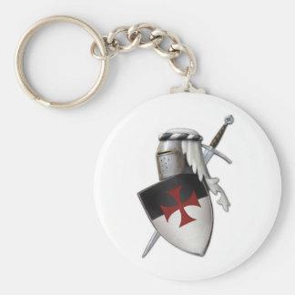 Escudo de Templar de los caballeros Llavero Redondo Tipo Pin