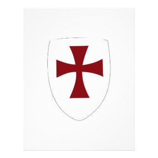 Escudo de Templar de los caballeros Membrete