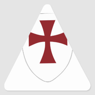 Escudo de Templar de los caballeros Pegatina Triangular