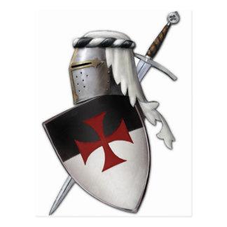 Escudo de Templar de los caballeros Tarjeta Postal