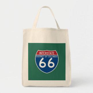 Escudo de un estado a otro de DC I-66 del distrito