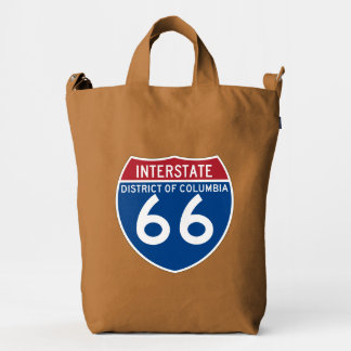 Escudo de un estado a otro de DC I-66 del distrito Bolsa De Lona Duck