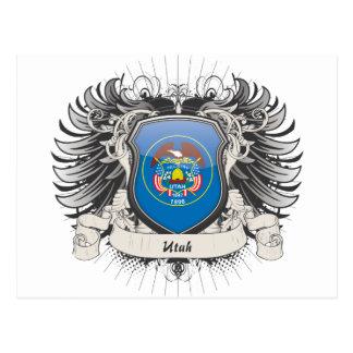 Escudo de Utah Tarjeta Postal