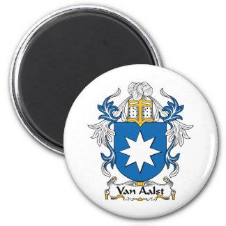 Escudo de Van Aalst Family Imán Redondo 5 Cm