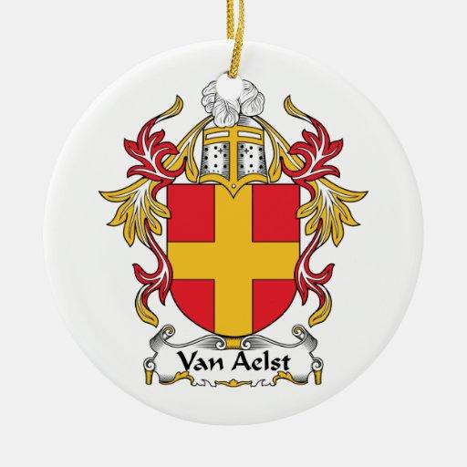 Escudo de Van Aelst Family Adornos