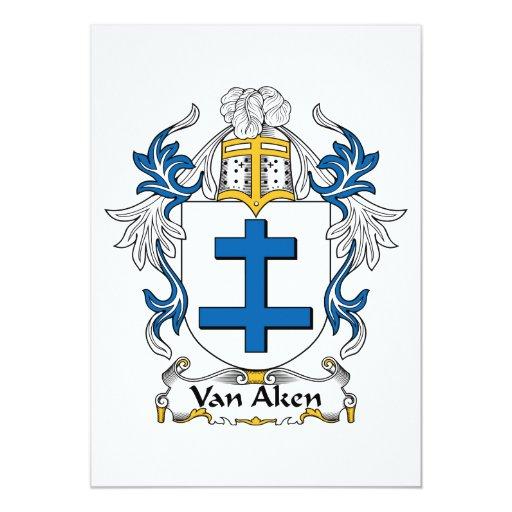 """Escudo de Van Aken Family Invitación 5"""" X 7"""""""