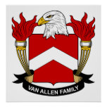 Escudo de Van Allen Family Posters