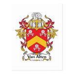 Escudo de Van Alten Family Postales