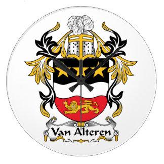 Escudo de Van Alteren Family Reloj De Pared