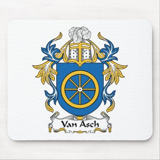 Escudo de Van Asch Family Tapete De Raton