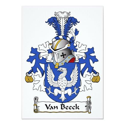 Escudo de Van Beeck Family Comunicado