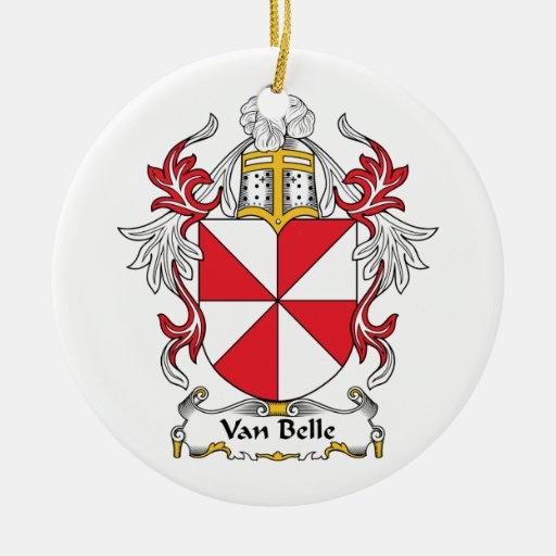 Escudo de Van Belle Family Adorno Redondo De Cerámica