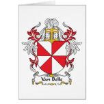 Escudo de Van Belle Family Tarjetas
