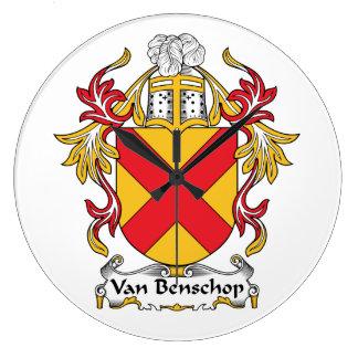 Escudo de Van Benschop Family Reloj De Pared