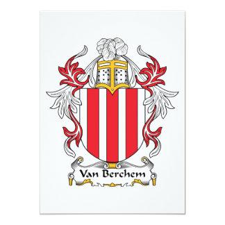 Escudo de Van Berchem Family Invitación 12,7 X 17,8 Cm