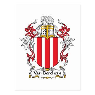 Escudo de Van Berchem Family Postal
