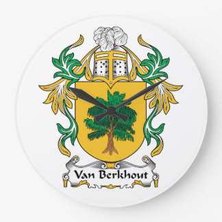 Escudo de Van Berkhout Family Relojes