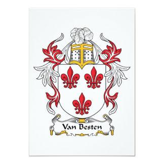 """Escudo de Van Besten Family Invitación 5"""" X 7"""""""