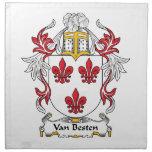 Escudo de Van Besten Family Servilletas Imprimidas