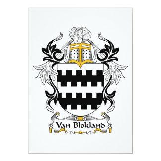 "Escudo de Van Blokland Family Invitación 5"" X 7"""