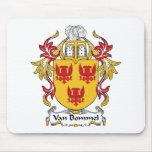 Escudo de Van Bommel Family Tapete De Ratón