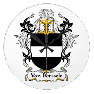 Escudo de Van Borssele Family Relojes De Pared