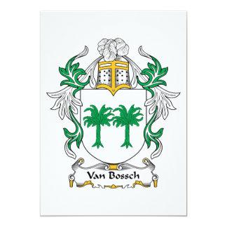 "Escudo de Van Bossch Family Invitación 5"" X 7"""