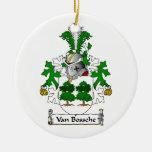 Escudo de Van Bossche Family Adornos De Navidad