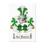Escudo de Van Bossche Family Impresiones De Lienzo