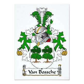 "Escudo de Van Bossche Family Invitación 4.5"" X 6.25"""