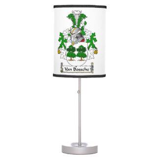 Escudo de Van Bossche Family Lámpara De Escritorio