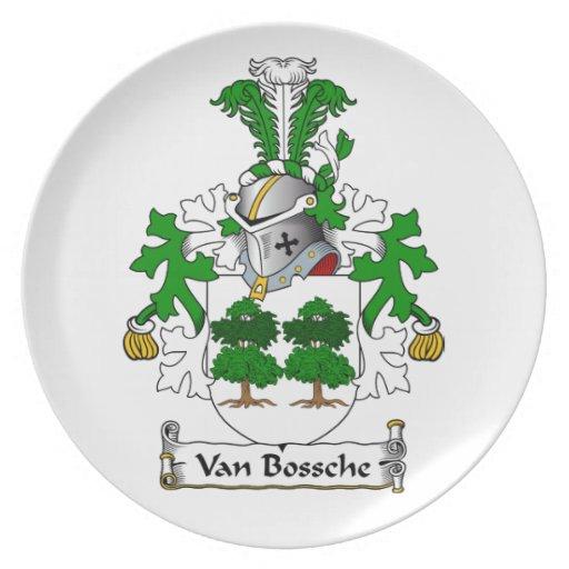 Escudo de Van Bossche Family Platos