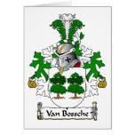 Escudo de Van Bossche Family Tarjetón