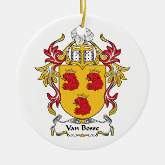 Escudo de Van Bosse Family Adorno Redondo De Cerámica