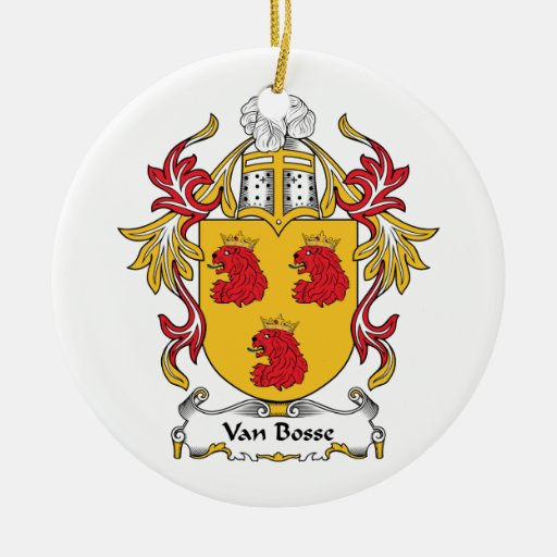Escudo de Van Bosse Family Adornos De Navidad