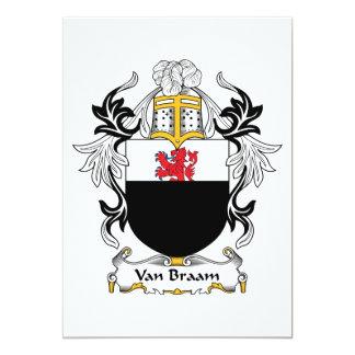 Escudo de Van Braam Family Invitación 12,7 X 17,8 Cm