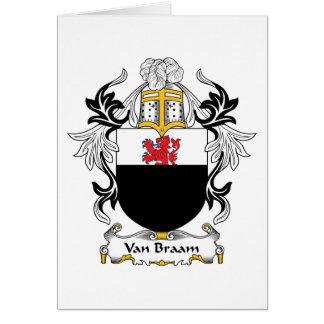 Escudo de Van Braam Family Tarjeta