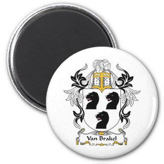 Escudo de Van Brakel Family Imán Redondo 5 Cm