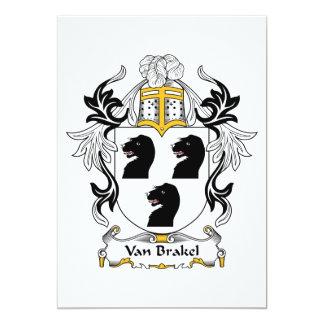 """Escudo de Van Brakel Family Invitación 5"""" X 7"""""""