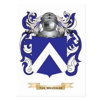 Escudo de Van Breukelen Family (escudo de armas) Postal