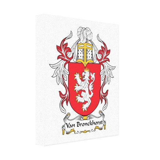 Escudo de Van Bronckhorst Family Lona Estirada Galerias