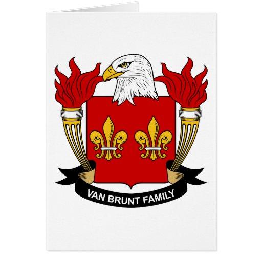 Escudo de Van Brunt Family Tarjeta De Felicitación