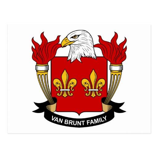 Escudo de Van Brunt Family Tarjeta Postal