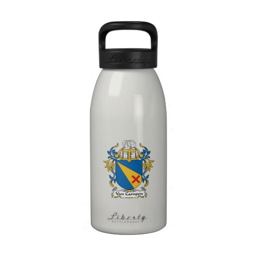 Escudo de Van Campen Family Botella De Agua Reutilizable