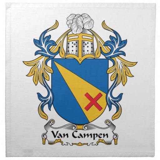 Escudo de Van Campen Family Servilleta Imprimida