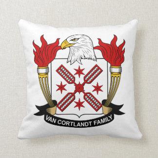Escudo de Van Cortlandt Family Almohada