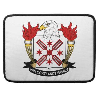 Escudo de Van Cortlandt Family Fundas Para Macbooks