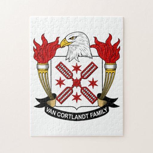 Escudo de Van Cortlandt Family Rompecabeza